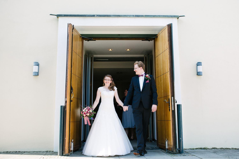 Auszug des Brautpaares aus der Kirche in Osnabrück