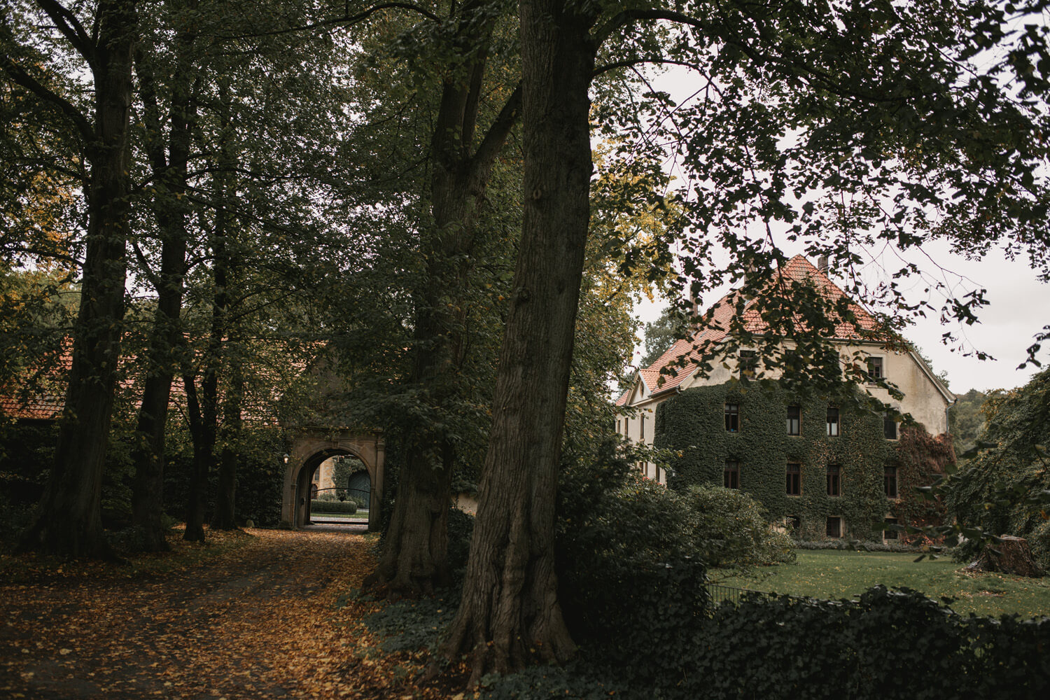 Location des Fotoshootings. Anwesen in Osnabrück.