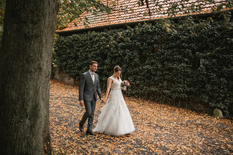 Fotoshooting des Brautpaares.
