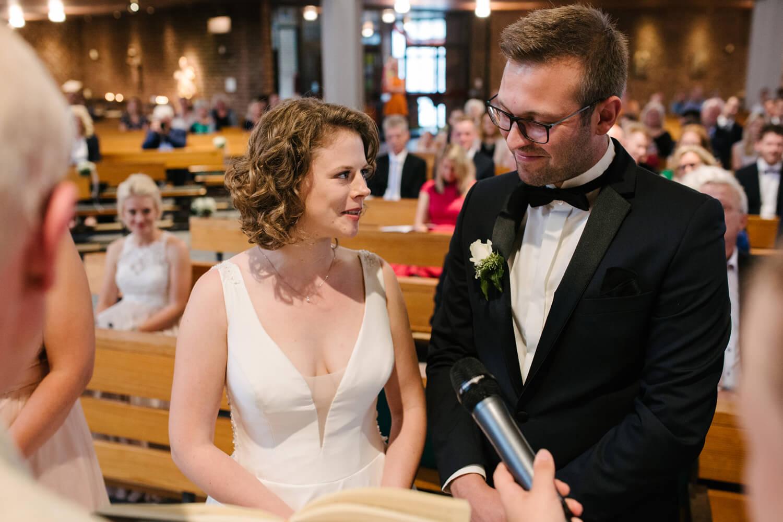 Hochzeitsgelübde des Brautpaares.