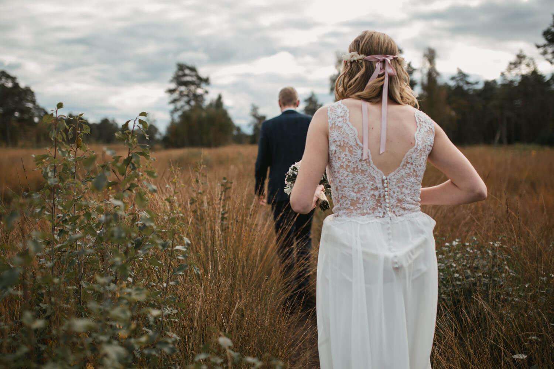 Fotoshooting mit dem Brautpaar.