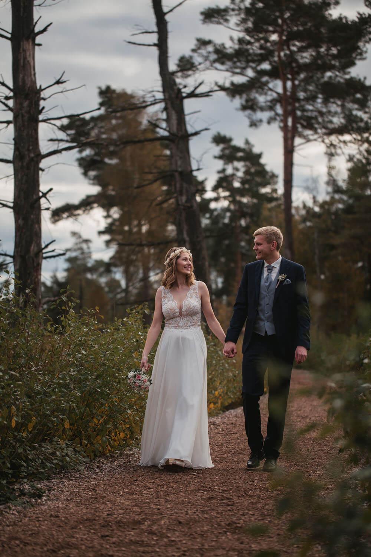 Brautpaar beim Fotoshooting.